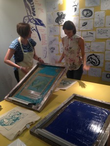So popular that Liz Jeal did a second day of screen printing bags