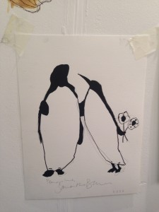 Penguins courting by Samantha Barnes